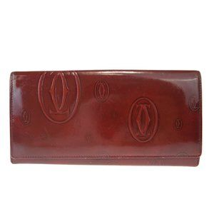 CARTIER Happy Birthday Long Bifold Wallet Purse P